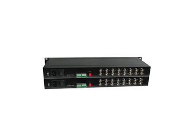 SM Port 40km 10 100 1000M Media Converter 16 Channel Video 1 Channel Return RS232 Data